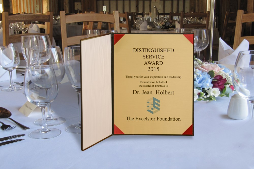Distinguished service award example